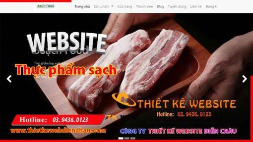 thiet-ke-web-thuc-pham-sach