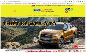 Thiết kế website bán xe ô tô - showroom